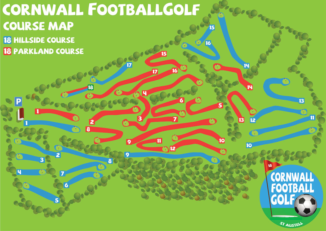 Cornwall FootballGolf Park Course Map